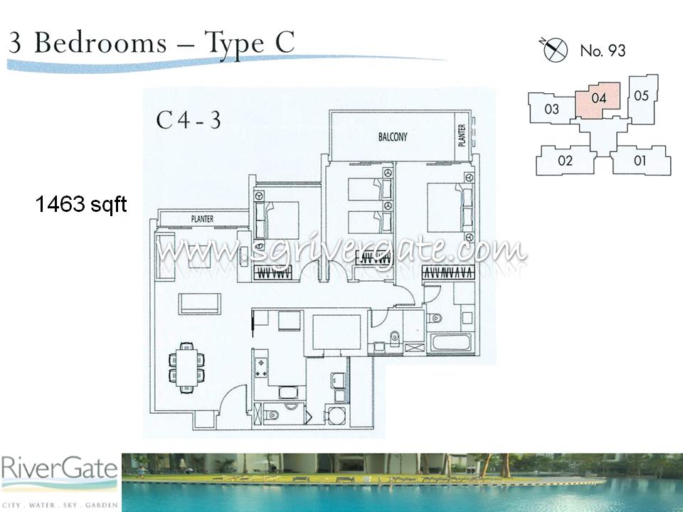 3 Bedroom 54 Types Rivergate Singapore Condo Condominium Apartment Condo For Sale Condo
