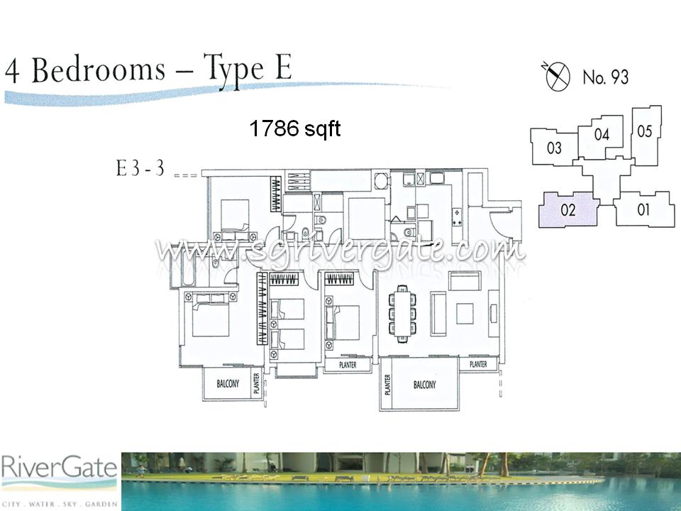 4 Bedroom 43 Types Rivergate Singapore Condo